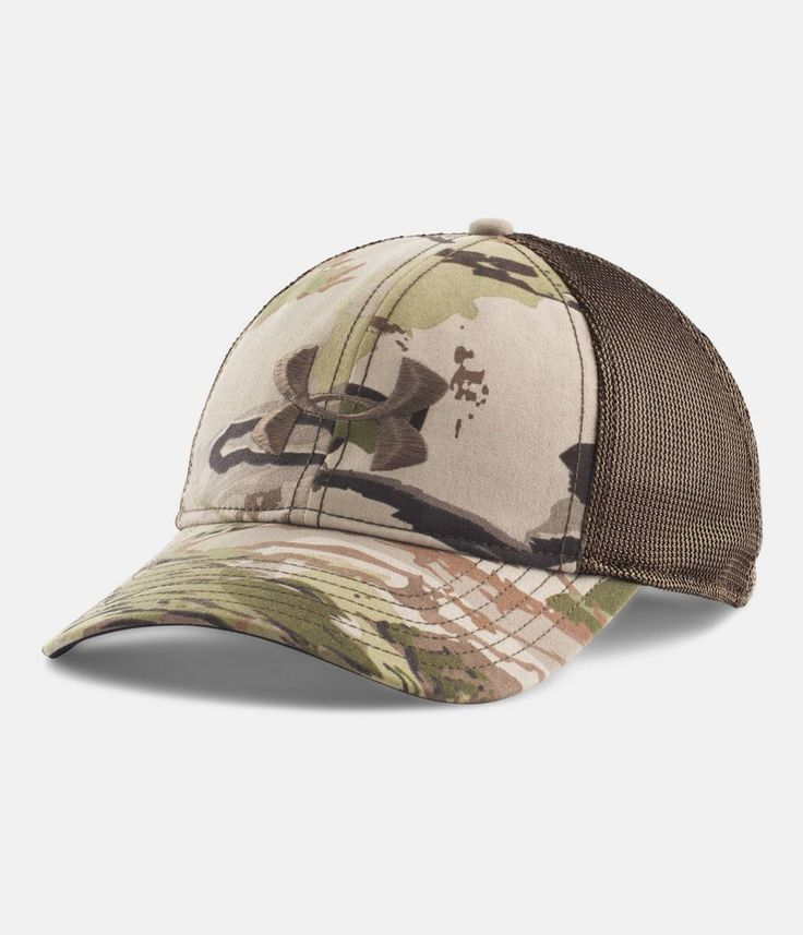 under armour fitted camo hats