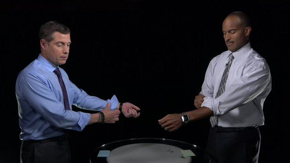 """""""AMHQ vs. Weekend Recharge! @ReynoldsWolf Wolf and @Paul_Goodloe compete in telling the worst weather jokes. RETWEET if you want a rematch! https://t.co/dDkzztXD7q"""""""