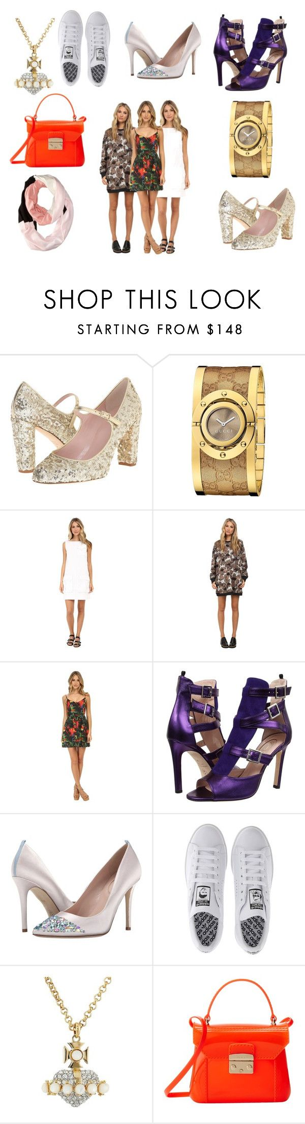 """""""Giftgasms With Zappos Couture!"""" by emma-esselmark on Polyvore featuring Kate Spade, Gucci, Marc by Marc Jacobs, Vera Wang, Love Moschino, SJP, adidas, Vivienne Westwood and Furla"""