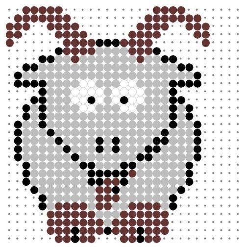 Goat Perler Bead Pattern