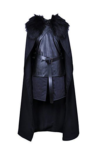 CosTop Game of Thrones Jon Snow Knights Watch Cosplay Costume for Man and Child, Medium