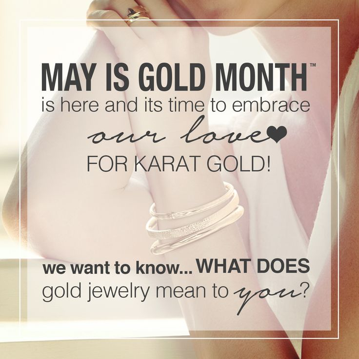 We want to hear what you think! What does #GoldJewelry mean to you? #MIGM