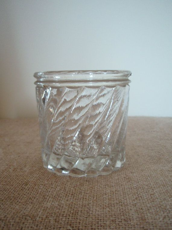 Rare antique French glass jam jar by FrenchieFlo on Etsy, $25.00