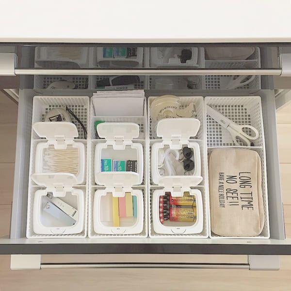 引き出しの整理整頓に役立つ セリア の仕切りボックスを使った収納