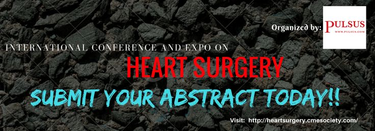 Caption: Submit your abstract today and get your journal publish on our webpage for FREE!! Mail us at: heartsurgery@cmesocietyconferences.com  #cardiac #surgery #cardiology #abstract #online_open_access
