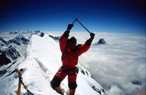 Jean Christophe Lafaille sur l'Annapurna, 2002 (1965-2006) France, 11 eight-thousanders without supplementary oxygen. Died on Makalu