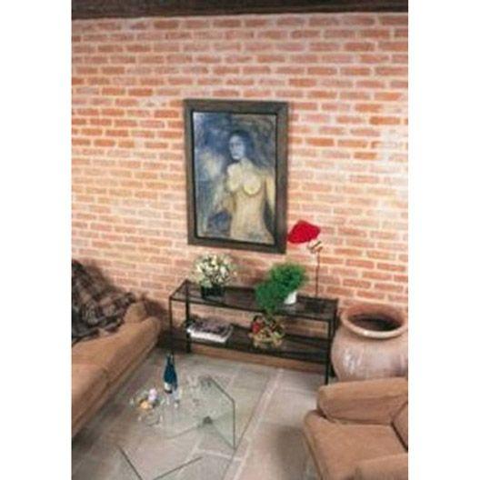 Plaquette de parement florence en b ton ros briques de - Plaquette de parement mur exterieur ...