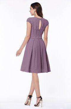 5b90ea11c178 ColsBM Maya Valerian Modest A-line Short Sleeve Chiffon Knee Length Sash  Plus Size Bridesmaid Dresses