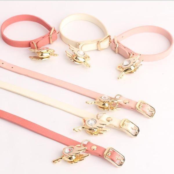 White/Pink/Red Cardcaptor Sakura Bird Key Bracelet KW1711533