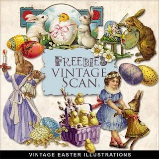 Freebie Vintage Scan: Easter Cards, Freebies Vintage, Vintage Easter, Cards Tags, Hill Freebies, Easter Vignettes, Easter Illustrations, Vintage Scan, Vintage Cards