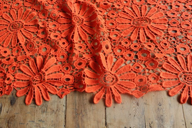 Wow - great cotton lace, great colour!