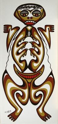 Frog Spirit, Daphne Odjig (one of Canada's foremost aboriginal artists)