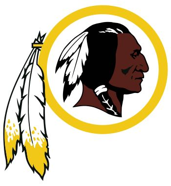 Washington Redskins logo, recently has been the subject of much criticism due to possible racist native american themes. Combined with it's name it has received much controversy for the well established and known organization.