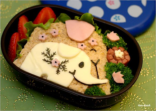 yeap, cute bento... need to make this for wednesday when i leave.... kids will like it... i think... very cute.
