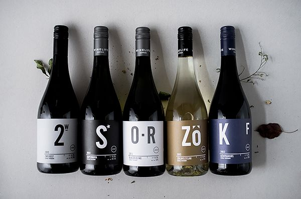 WINELIFE wine labels on Packaging Design Served