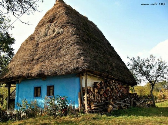 In my little thatched hut...