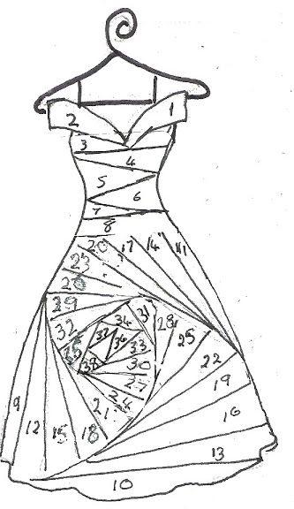 Gown Iris Folding Pattern