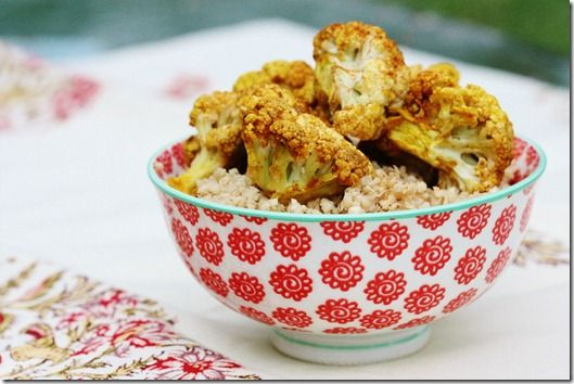 Raw Cauliflower Curry Over Raw Parsnip Rice