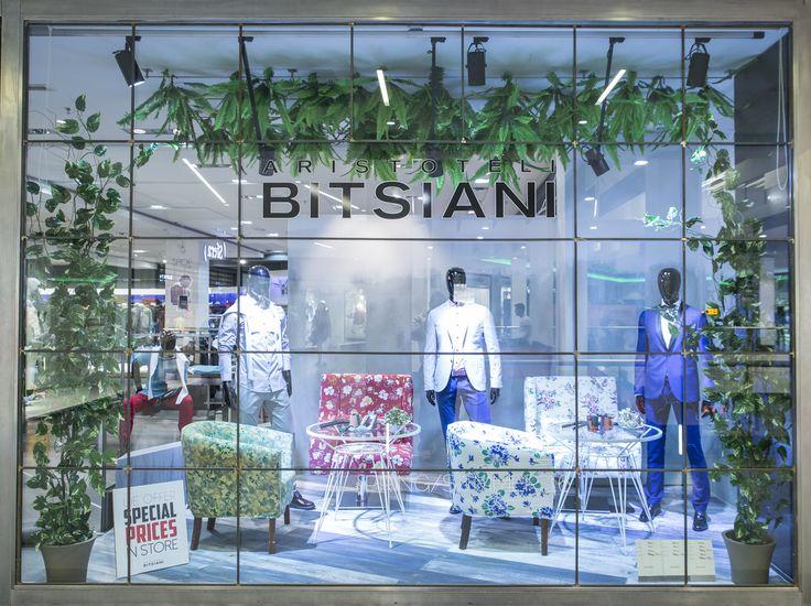 New #aristotelibitsiani Windows for Spring/Summer 2016 in our #retailstore at #mediterraneancosmos in #thessaloniki