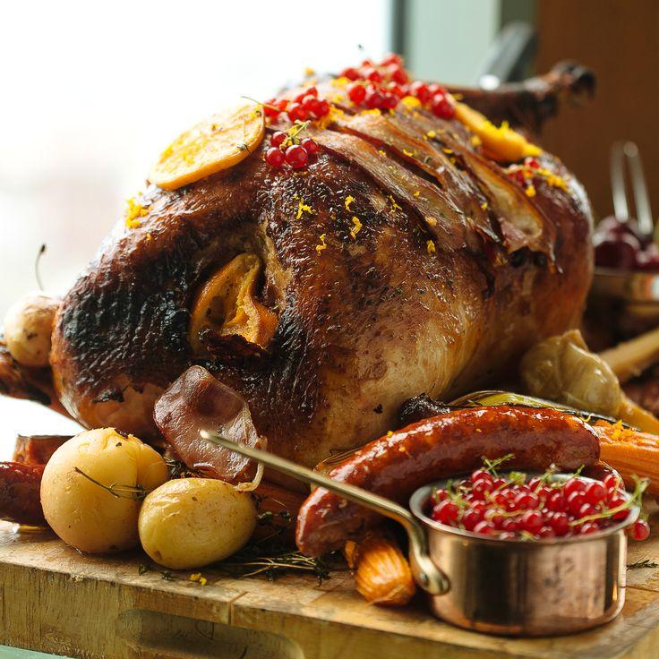 Christmas turkey feast