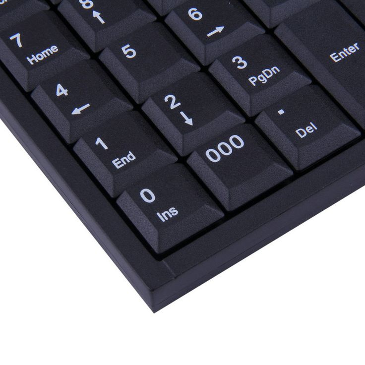 High Quality 1pc mini USB Wired Numeric Keyboard Keypad Adapter 19 Keys for Laptop PC Black Newest #Affiliate