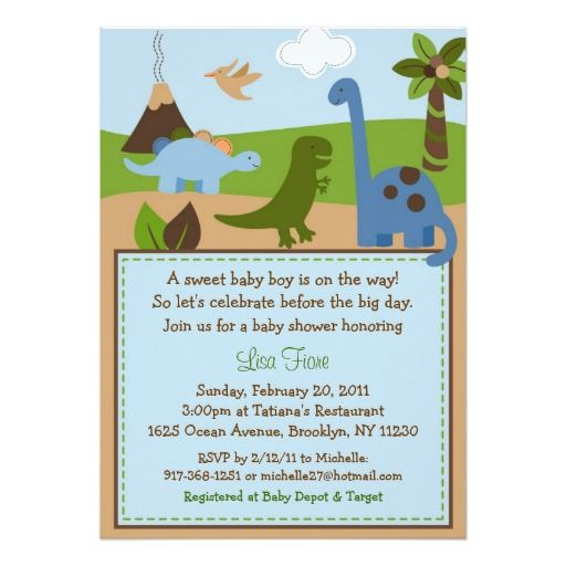 Exceptional Lil Dino Dinosaur Baby Boy Baby Shower Invitations