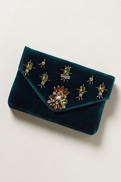 too cute for christmas parties - Jewelled Clutch #anthropologie