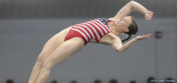 Amy Cozad competes in the 10-meter platform final at the 2016 U.S. Olympic Team Trials for Diving at Indiana University Natatorium on June 25, 2016 in Indianapolis.
