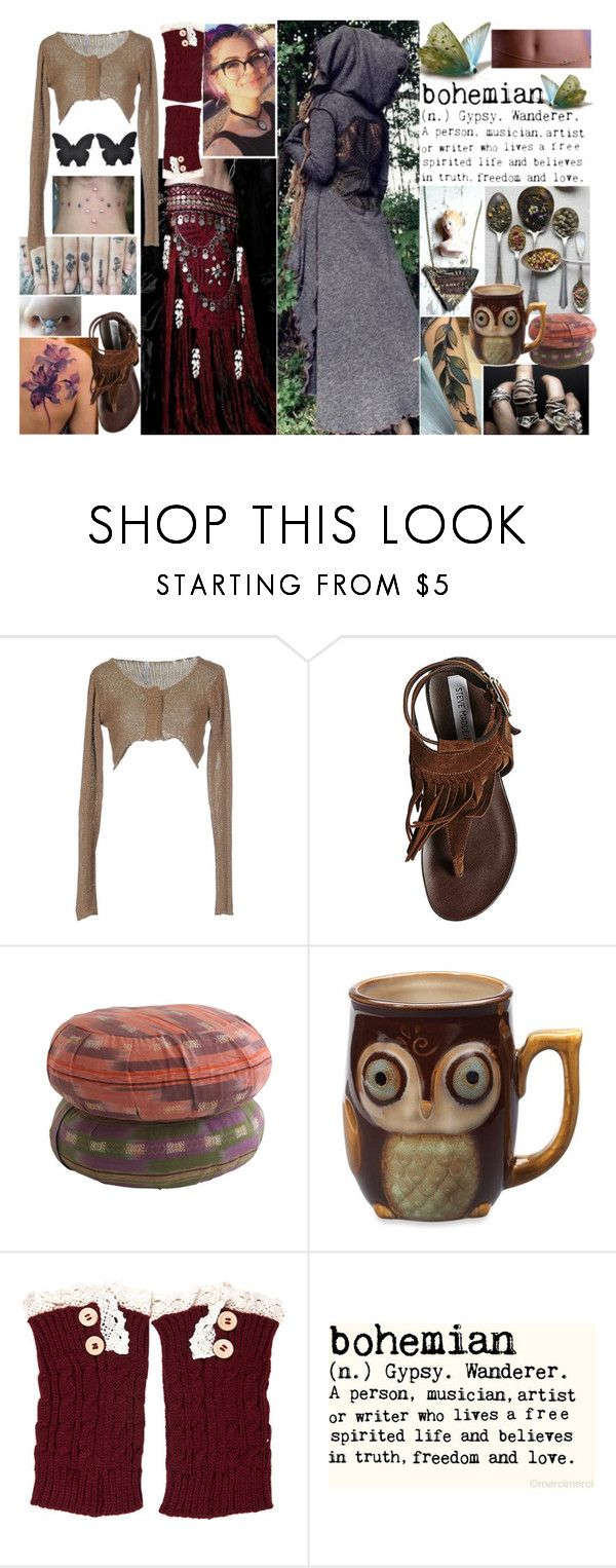 """""""Jinx2"""" by thwgi ❤ liked on Polyvore featuring By Charlotte, Pianurastudio and Steve Madden"""