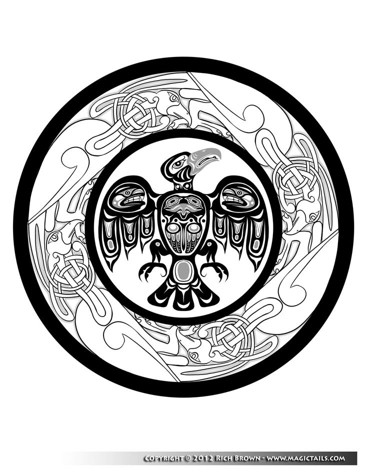 name eagle mandala coloring page