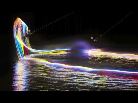 """Snap! Orlando's LED-lit wakeboarding entry in Red Bull Illume, """"the world's premier international photography competition dedicated to the world of action and adventure sports."""""""