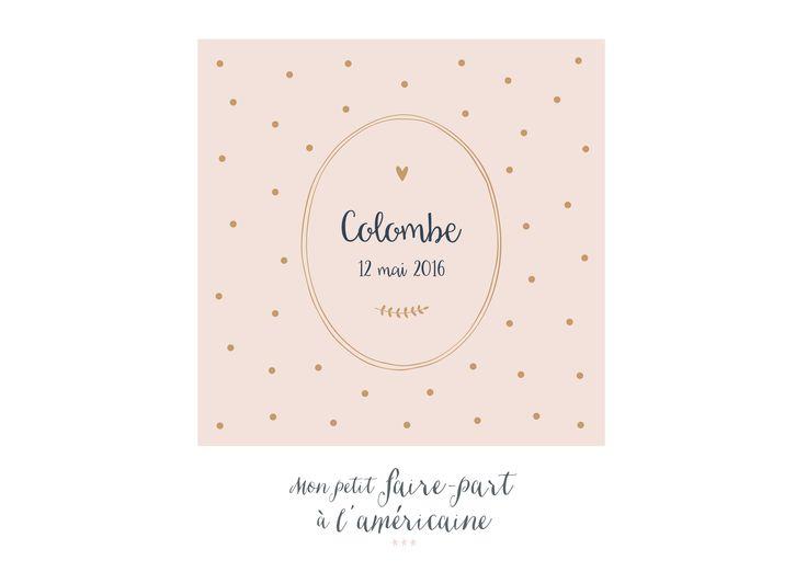 Faire-part naissance http://www.monpetitfairepartalamericaine.fr