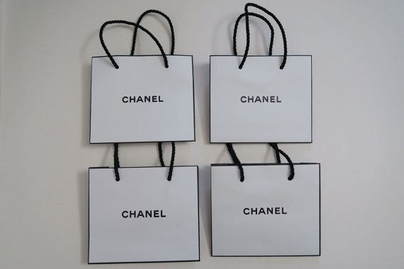 Lot of 8 Authentic CHANEL Bag / Small White Paper by Sweeeties