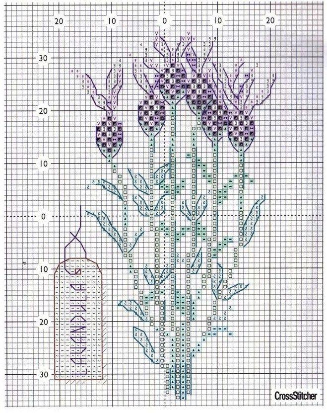 cross stitch lavender *