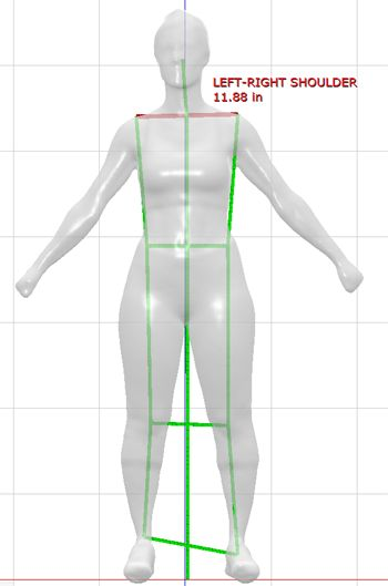 New posture analysis feature of @styku 3D full body scanner.