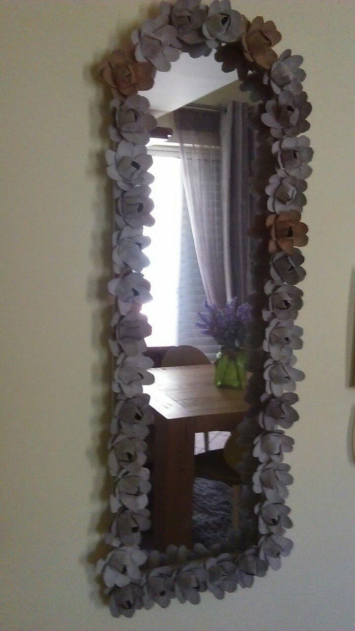 mirror frame-egg cartons
