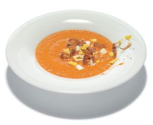 Salmorejo Cordobes: One of my favorite recipes to make--don't go overboard on the garlic.