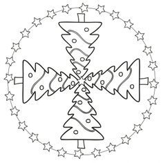 Weihnachtsmandala-Christbaum
