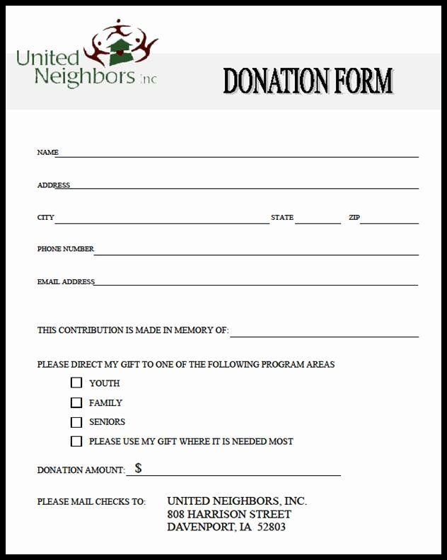In Kind Donation Form Template New Blank In Kind Donation Form Template Templates Resume Donation Form Donation Request Form Template Word