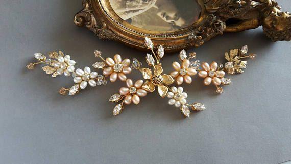 Flower bridal hair vine Leaf Bridal Headpiece Wedding