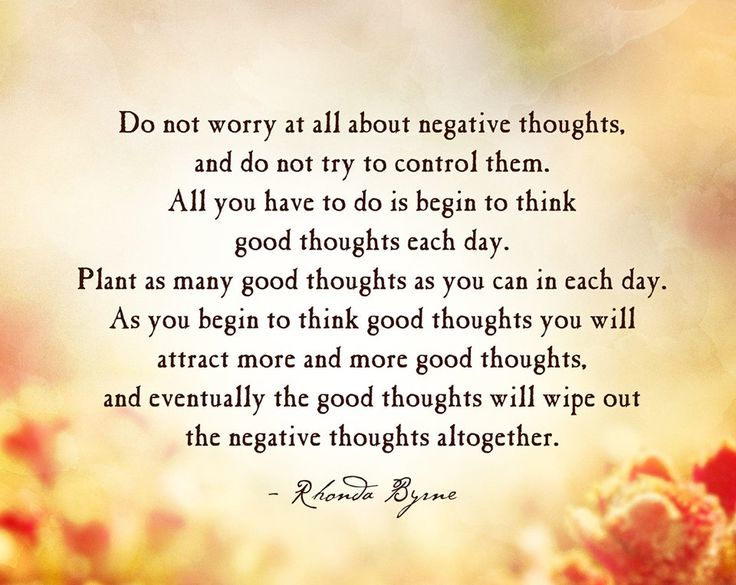 Positive Thoughts usage by Rhonda Byrne