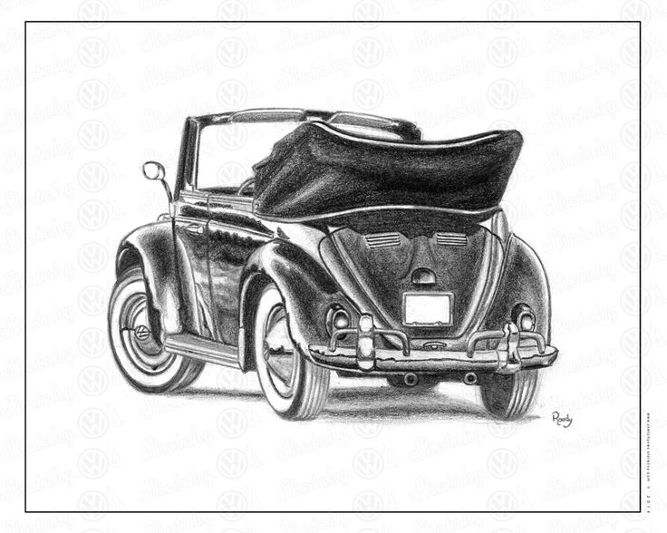 Roudy Courser's VW love shows through his finely done pencil drawing.