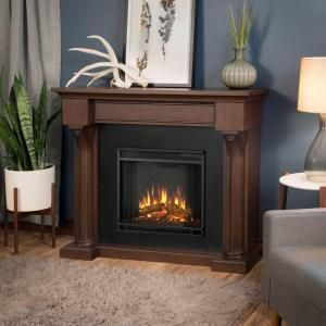 Real Flame Verona 48 in. Electric Fireplace in Chestnut Oak 5420E-CO at The Home Depot - Mobile