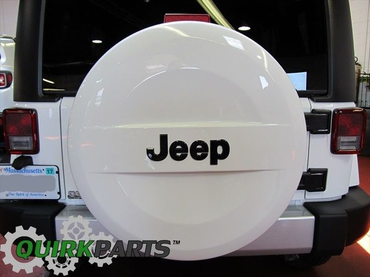 07-15 JEEP WRANGLER P255/70R18 WHITE HARD SURFACE SPARE TIRE COVER OEM NEW MOPAR #MOPAR