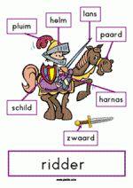 Plaat ME - Ridder met woordveld, leuk en verschillend materiaal over ridders op Piekie.com