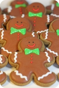 gingerbread manHoliday, Decorated Christmas Cookies, Christmas Gingerbread Cookies, Bow Ties, Gingerbreadman, Decor Cookies, Decorated Cookies, Gingerbread Man, Gingerbread But