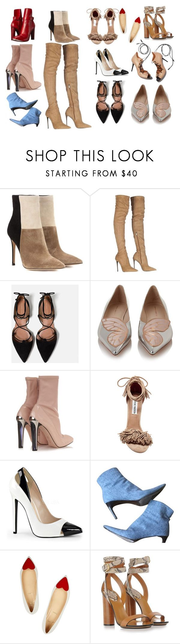 """""""Shoes"""" by theclothesmind on Polyvore featuring Gianvito Rossi, Roberto Cavalli, Zara, Sophia Webster, Alexander McQueen, Steve Madden, Malone Souliers, Ralph Lauren, Christian Louboutin and Gucci"""
