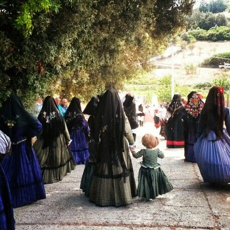 Traditional dress, Costume tradizionale, Perdasdefogu, Ogliastra