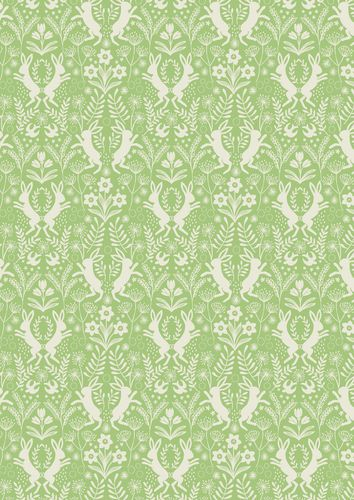 """Little Hares Green"" Craft Cotton Fabric link: http://www.elephantinmyhandbag.com/all.php…"