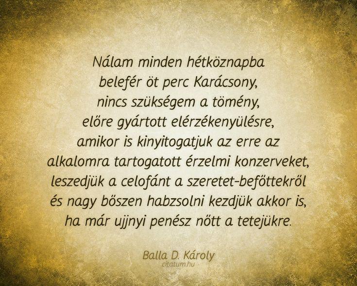 Balla D. Károly #idézet #karácsony